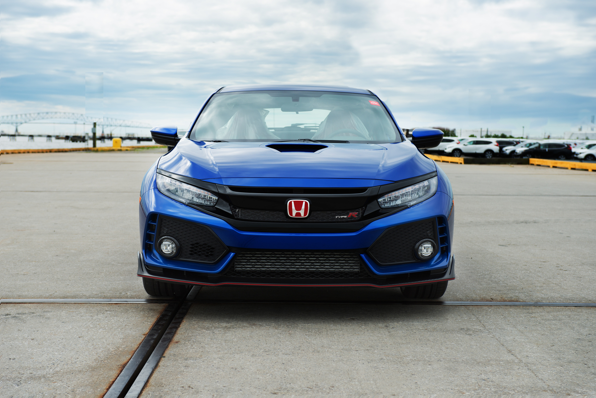 honda civic type r the first us bound car is up for auction. Black Bedroom Furniture Sets. Home Design Ideas