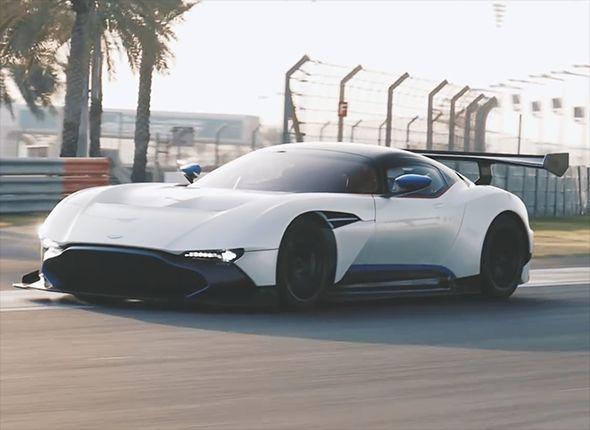 Aston Martin Vulcan On The Track
