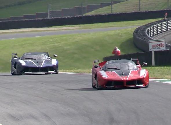 Hear Ferrari Fxx K Hypercars Roar On The Track