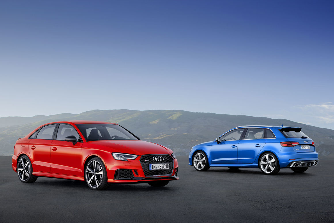 2018 audi rs3 sedan and sportback details emerge. Black Bedroom Furniture Sets. Home Design Ideas