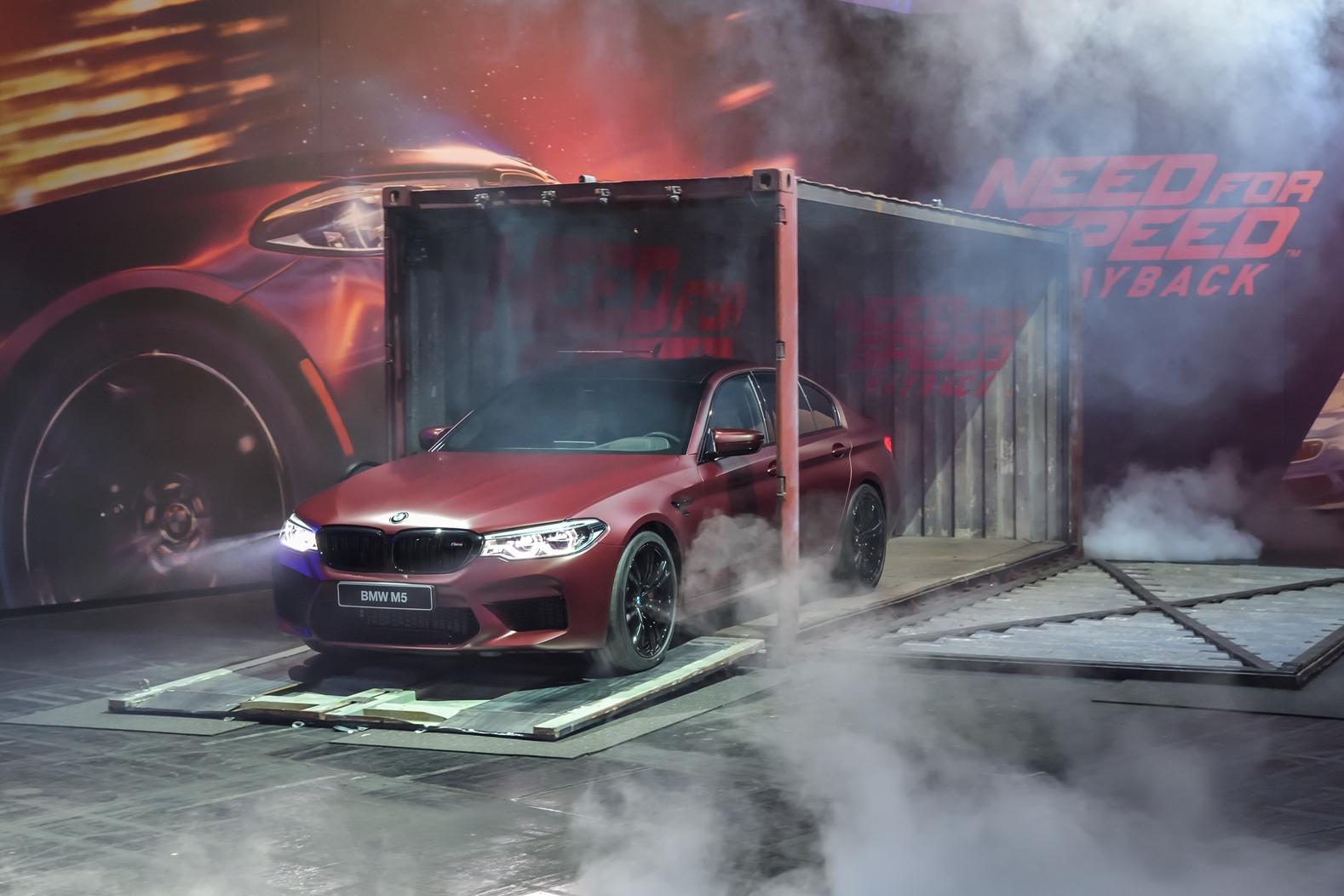 2018 bmw m5 presented at need for speed payback gamescom event. Black Bedroom Furniture Sets. Home Design Ideas