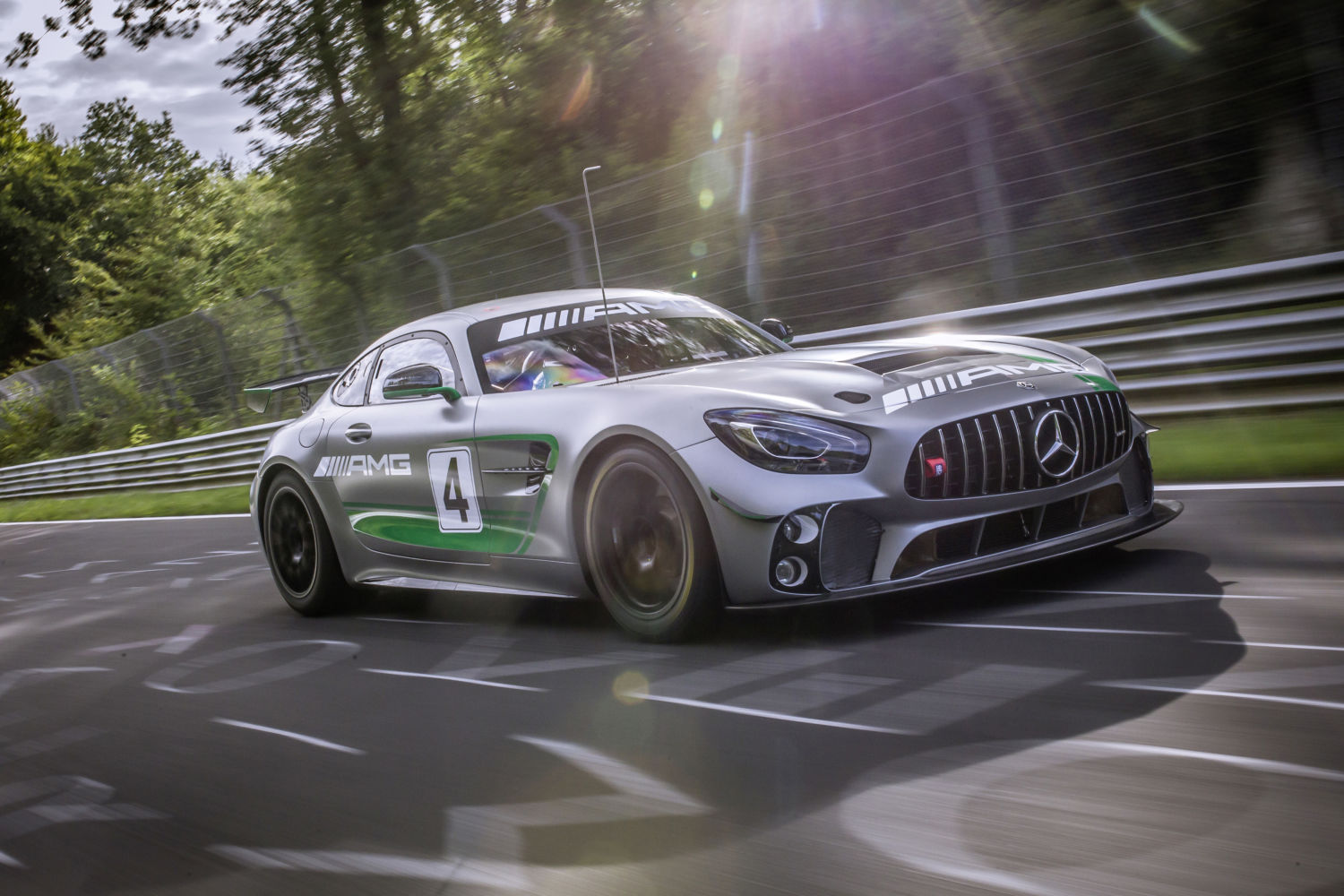 mercedes amg gt4 hits the n rburgring as race testing continues. Black Bedroom Furniture Sets. Home Design Ideas